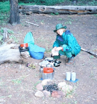 Dinner in the Arapahoe National Forest, Colorado, USA.