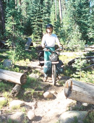 Way back on an Arapaho National Forest trail, Colorado.
