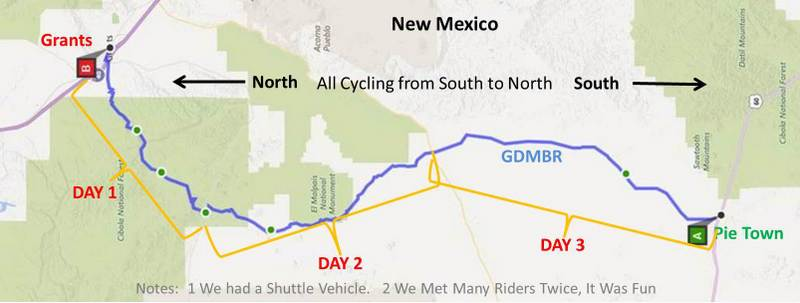 Great Divide Mountain Bike Route Gdmbr Segment Pie Town Through
