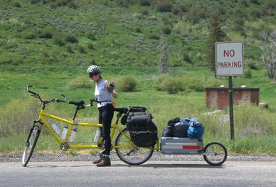 Tandem Bike: Panniers and Trailer