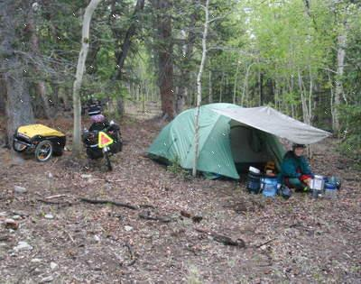 Bicycle Touring and Camping in Colorado.