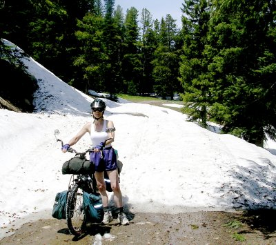 Bicycle Camping, Meaden Mountain Pass, Colorado. Alternate Route on Great Divide Mountain Bike Route (GDMBR).