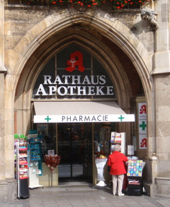 German Apotheke (Apothecary/Pharmacy).