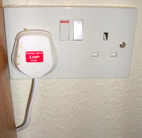UK Styled, 230v, Electricity Outlet.