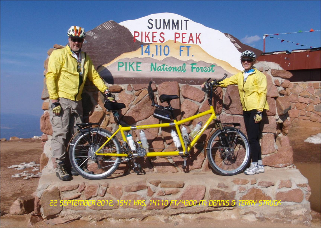Dennis And Terry Struck Summitted Pike S Peak