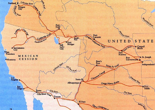 Oregon Trail On Us Map.Great Divide Mountain Bike Route Gdmbr Segment South Pass City